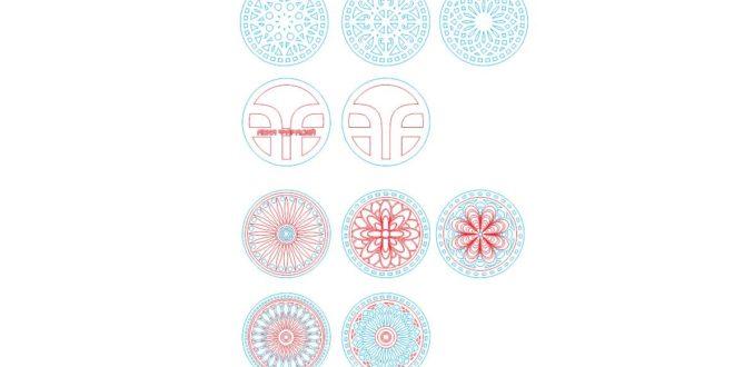 Base for mugs-ornaments-mandalas