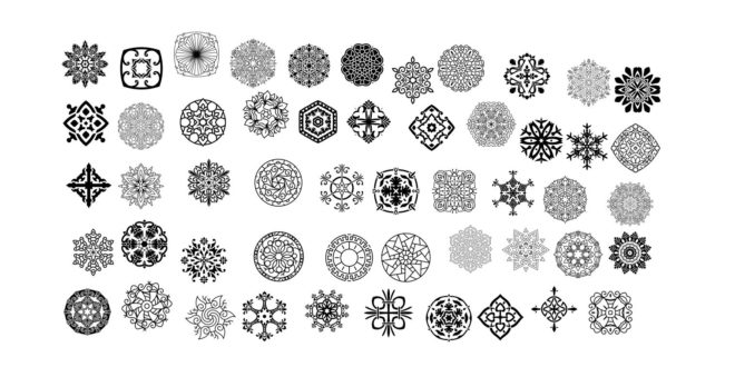 Pack 500 decorative mandala in .ai format – vectors to import in coreldraw or adobe illustrator – only .ai files