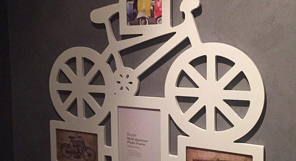 Photo panel with bike