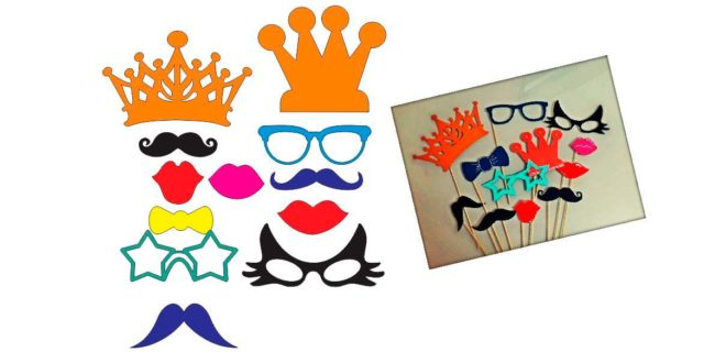 Mustache crown glasses mask party