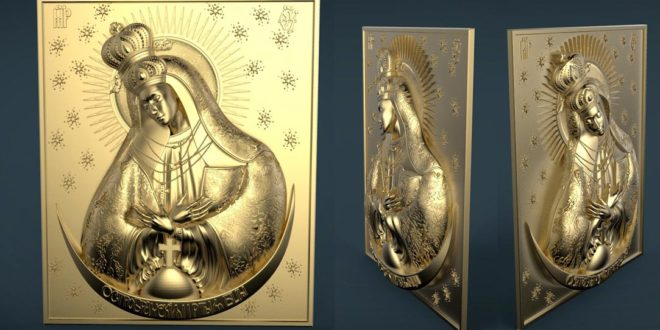 Relief 3d religious saint STL file to cnc router 3d print models