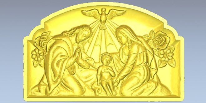 Picture Frame birth of christ STL low resolution