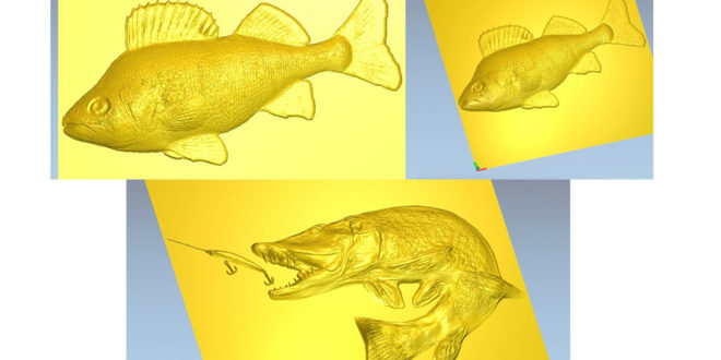 2 fishes Relief 3d artcam STL download cnc model