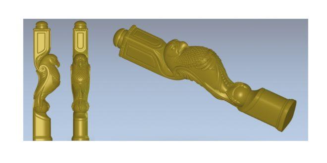 3D CNC Router file pillar pole eagle hawk bird