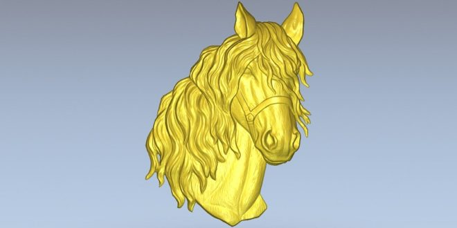 Horse Head Relief for milling on cnc 3d file model download