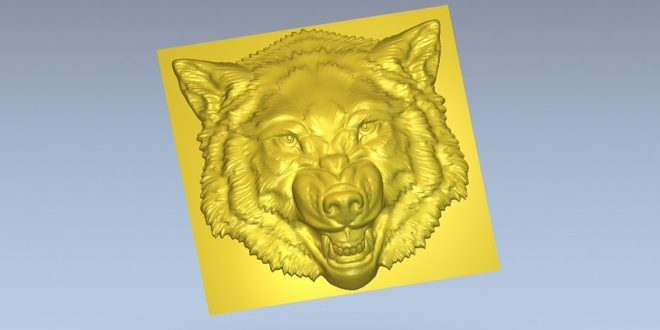 Wolf Angry dog .STL router file cnc