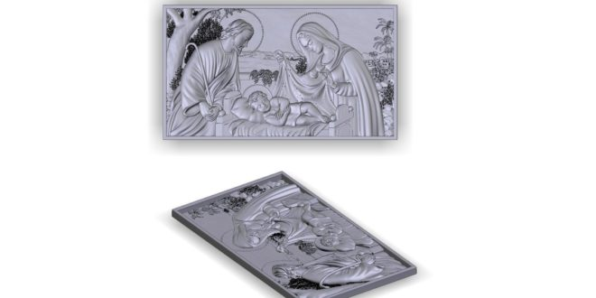 Relief 3d religious jesus christ STL file for cnc router