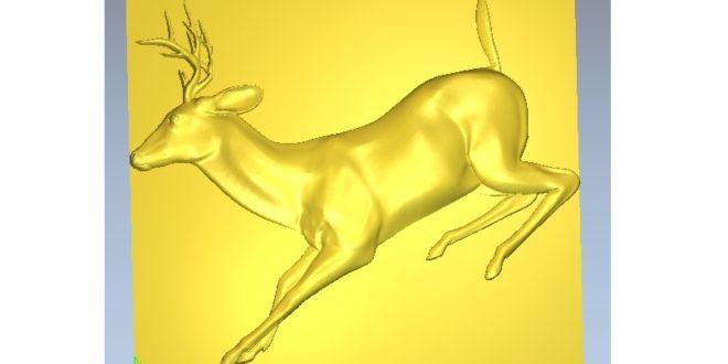 Deer hart veal 3D Relief model ArtCAM STL File vcarve vectric aspire 3d printer