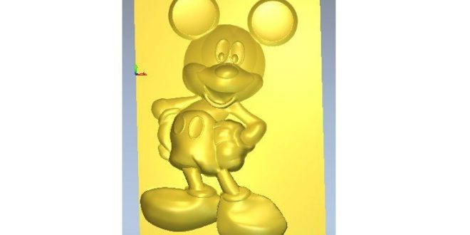 Mickey mouse relief 3d stl file to cnc router or 3d print