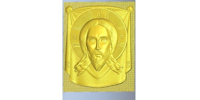Jesus Christ 3d file relief to milling on cnc router