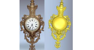 3d file wall clock for milling stl cnc router