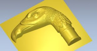 Cane handle 3d bird file to mill cnc router