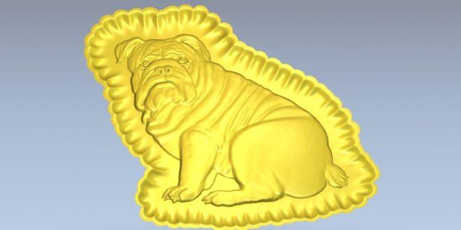 Bulldog dog stl to cnc machining relief artcam vcarve