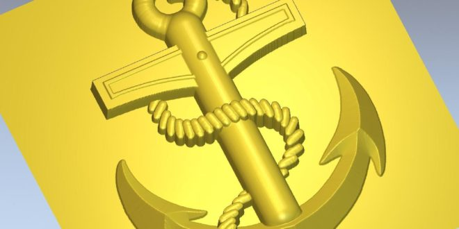 Anchor bower water 3d vector stl file download