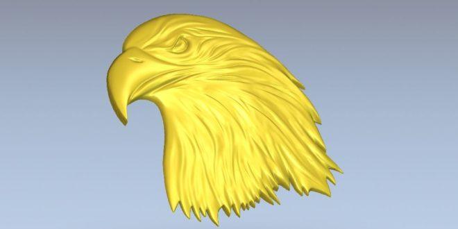 Eagle hawk condor 3d bird model relief to cut cnc router