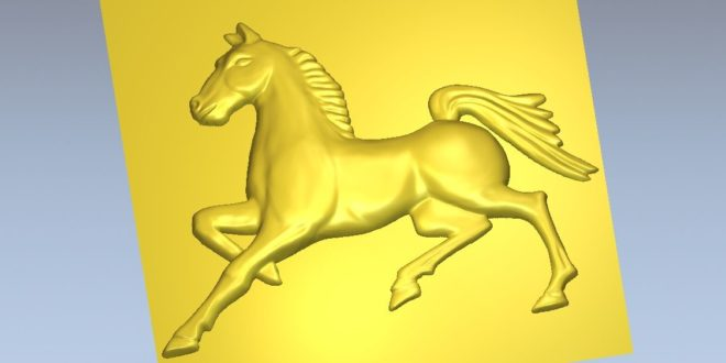 3d drover horse Relief file to cnc router