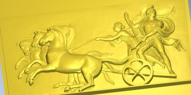 Horses carriage wagon 3d file cnc router mill cut