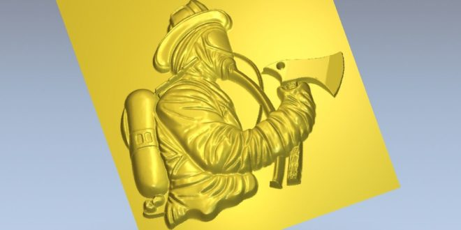 Emergency firefighter relief cnc router stl to download