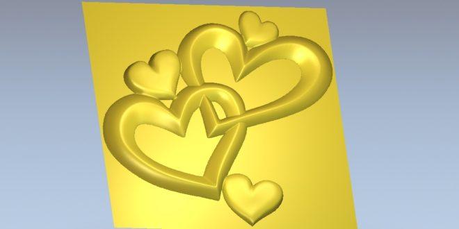 Hearts 3D Model for pendant Jewellery STL File