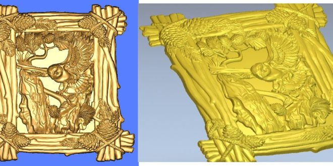 Owl frame 3d frame panel to cnc router woodwork