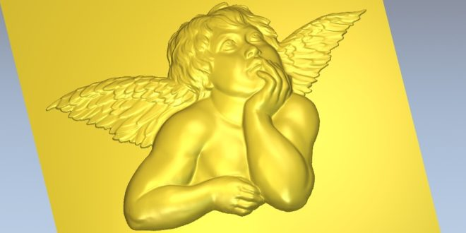 3D Cupid Relief STL Valentines day File Download