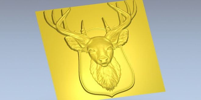 STL Deer frame for wall decoration hunting hunt wildlife