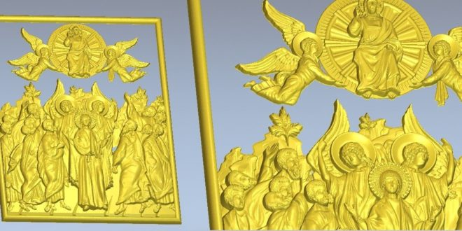 religious 3d relief jesus christ angels saints holy sacred