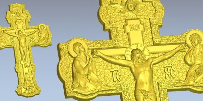 Crucifix jesus christ on the cross 3d STL Model for CNC Router Engraver Carving