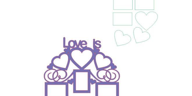 Love is frame photo laser vector download to cnc artcam vectric aspire vcarve