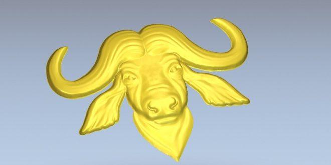 FREE Bull 3d stl relief file to cnc router machining artcam vcarve vectric aspire cimatron powermill worknc