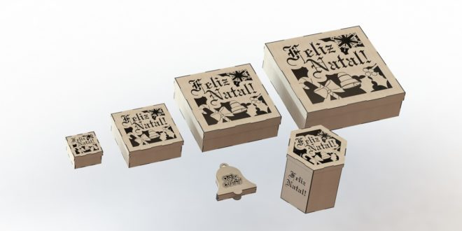 Christmas boxes 3mm mdf wood acrylic cut laser engrave