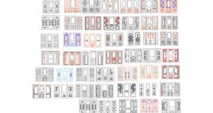 Pack Vectors Doors to Router CNC cdr dxf corel artcam files