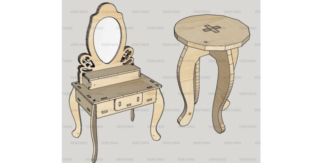Stool/Dressing Table 15mm files dxf cdr
