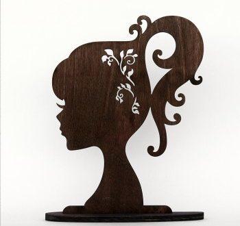 Female face silhouette vector