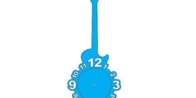 Guitar clock file dxf cdr vectors cnc make