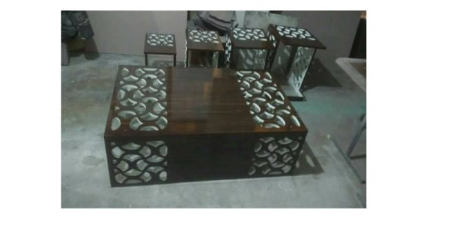 Decorated coffee table