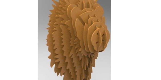 Lion head for wall mounting – 6mm thick design