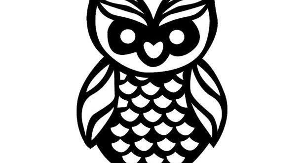 Owl 2d to cut wood paper acrylic sheetmetal