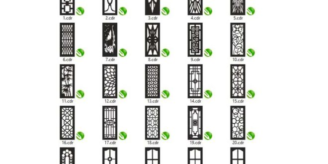 Package 1 with 25 Doors Vectors, FILES ONLY .CDR FORMAT for CorelDraw