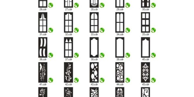 Package 2 with 25 Doors Vectors, FILES ONLY .CDR FORMAT for CorelDraw