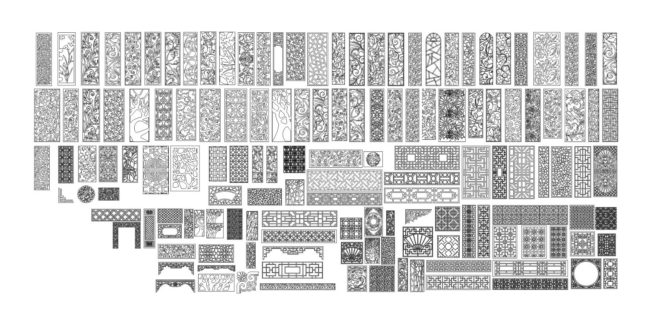 Pack Patterns CDR Corel only vectors ScrollWork