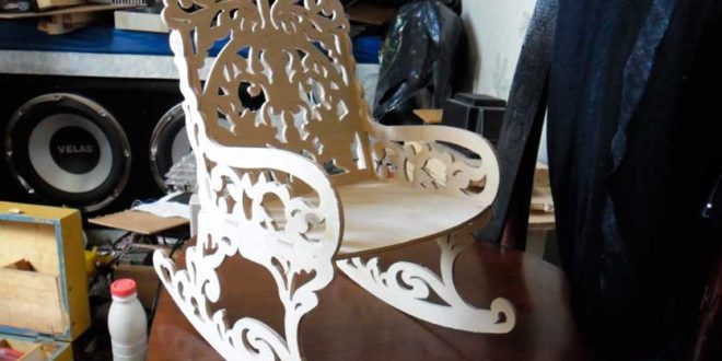 FREE Rocking chair DXF vector woodworking