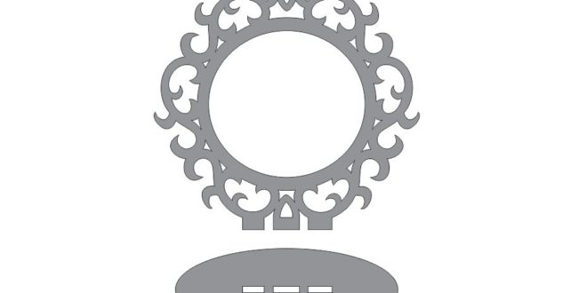 FREE Round frame with base dxf cdr vectors file