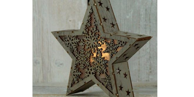 Star light box to laser cut file vectors download cdr dxf