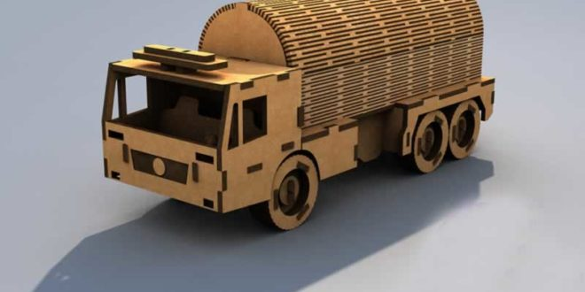 Water transport truck vector DXF CDR DOWNLOAD