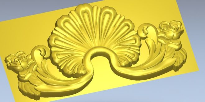 3d floral ornament stl file cnc router flowers