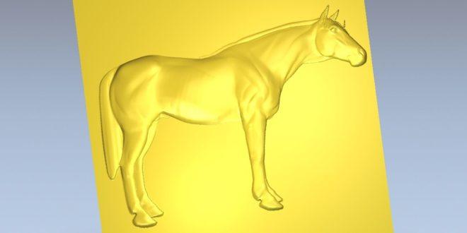 Full Body Horse Relief STL carve sculpt engrave CNC ROUTER