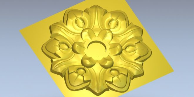 Flower relief for cnc router