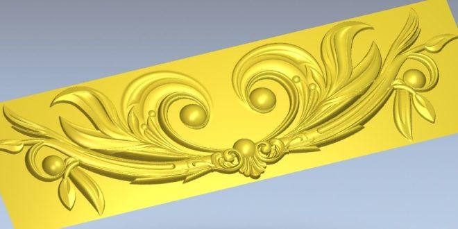 Floral decor stl relief artcam vectric aspire vcarve carving wood file