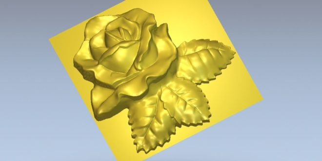 Flower STL relief to cnc router